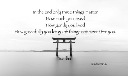 In the End Only Three Things Matter